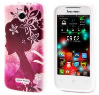 Чехол для Lenovo IdeaPhone A390T Silicon Print Cover Girl In Red
