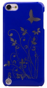Чехол для iPod Touch 5 Hard Print Cover Butterfly Blue