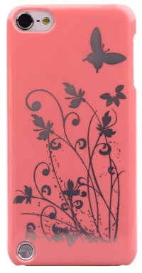 Чехол для iPod Touch 5 Hard Print Cover Butterfly Pink