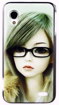 Чехол для Lenovo IdeaPhone S720 Sad Girl Print Hard Shell