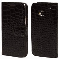 Чехол для HTC One M7 Crocodile Flip Cover