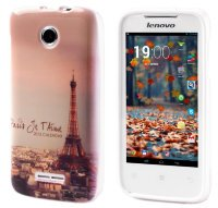 Чехол для Lenovo IdeaPhone A390T Silicon Print Cover Paris