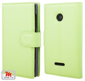 Чехол для Microsoft Lumia 435 Litchi Leather Flip Cover Lumia 435 чехол книжка