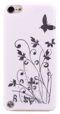 Чехол для iPod Touch 5 Hard Print Cover Butterfly White