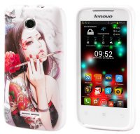 Чехол для Lenovo IdeaPhone A390T Silicon Print Tatu Girl