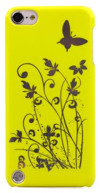 Чехол для iPod Touch 5 Hard Print Cover Butterfly Yellow