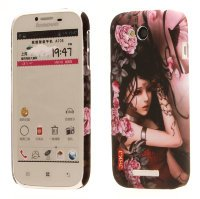 Чехол для Lenovo IdeaPhone A706 Hard Print Cover Flower Girl
