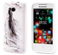 Чехол для Lenovo IdeaPhone A390T Silicon Print Winter Girl