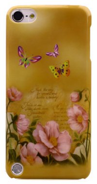 Чехол для iPod Touch 5 Hard Print Cover Butterfly Gold