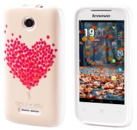 Чехол для Lenovo IdeaPhone A390T Silicon Print Heart Baloons