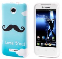 Чехол для Lenovo IdeaPhone A390T Silicon Print Blue Mustache