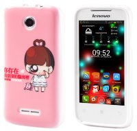 Чехол для Lenovo IdeaPhone A390T Silicon Print Cry Girl