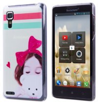 Задняя крышка для Lenovo IdeaPhone P780 Hard Print Cover Girl With Bear