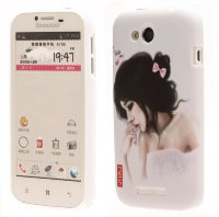 Чехол для Lenovo IdeaPhone A706 Hard Print Cover Sad Girl