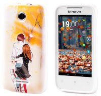 Чехол для Lenovo IdeaPhone A390T Silicon Print Happy Couple