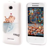 Чехол для Lenovo IdeaPhone A390T Silicon Print Real Love