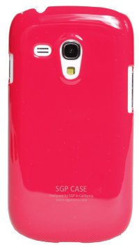 Чехол-накладка для Samsung Galaxy S3 mini i8190 Simple Style SGP Hard Case Cover малиновый