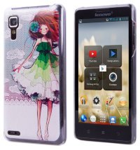 Задняя крышка для Lenovo IdeaPhone P780 Hard Print Cover Red Girl