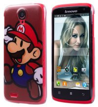 Чехол для Lenovo IdeaPhone S820 Hard Print Cover Super Mario