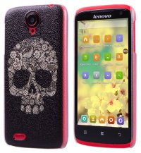 Чехол для Lenovo IdeaPhone S820 Frosted Print Cover Floral Skull