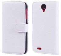Чехол для Lenovo IdeaPhone S820  Litchi Leather Flip Cover