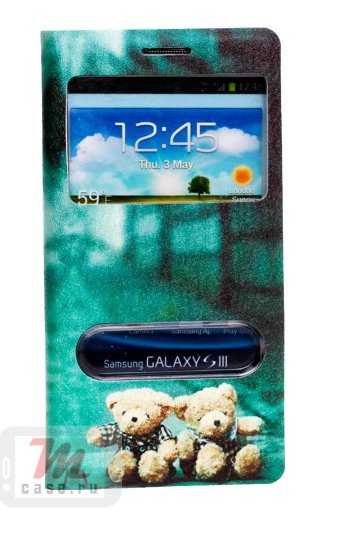 Чехол для  Samsung Galaxy S3 View Cover Funny Bear Чехол для  Samsung Galaxy S3 View Cover Funny Bear