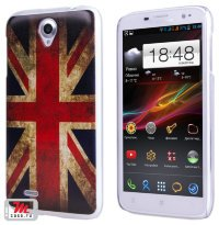 Задняя крышка для Lenovo IdeaPhone A850 Hard Print Cover Great Britan