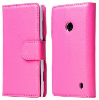 Чехол для Nokia Lumia 520 Litchi Stand Book Cover