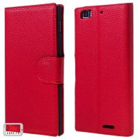 Чехол для Lenovo IdeaPhone K900 Litchi Leather Flip Cover