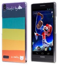 Чехол для Huawei Ascend P6 Hard Print Cover Colorful Day