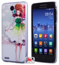 Задняя крышка для Lenovo IdeaPhone S650 Vibe X mini Hard Print Cover Red Girl