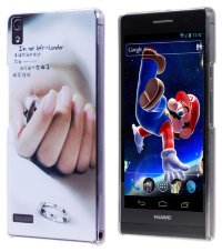Чехол для Huawei Ascend P6 Hard Print Cover Hard Left