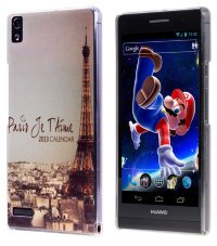 Чехол для Huawei Ascend P6 Hard Print Cover Paris