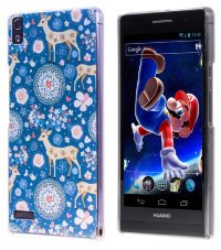 Чехол для Huawei Ascend P6 Hard Print Cover Wonder Deer
