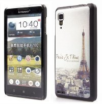 Задняя крышка для Lenovo IdeaPhone P780 Hard Print Cover Paris
