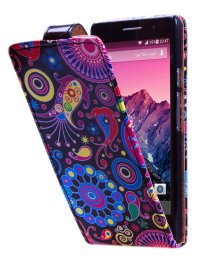 Чехол для Huawei Ascend P6 Vertical Print Cover Crazy Night