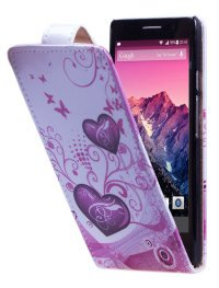 Чехол для Huawei Ascend P6 Vertical Print Cover Scarlet Hearts