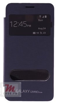 Чехол для Samsung Galaxy Grand Prime S-View Cover Deep Blue