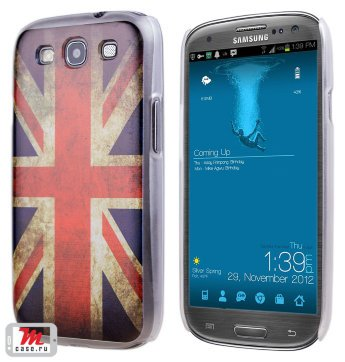 Чехол для S3 i9300/i9300i (S3 Duos) Hard Print Cover Great Britain Чехол samsung s3