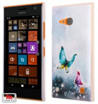 Чехол для Nokia Lumia 735 / 730 Hard Print Cover Butterfly