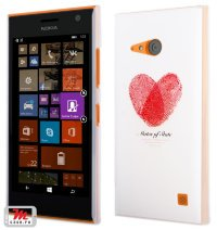 Чехол для Nokia Lumia 735 / 730 Hard Print Cover Heart