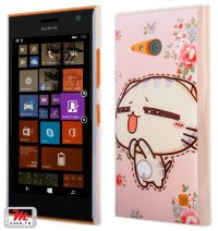 Чехол для Nokia Lumia 735 / 730 Hard Print Cover Kitty