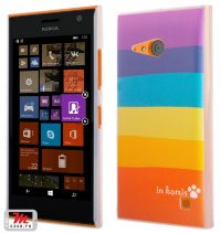 Чехол для Nokia Lumia 735 / 730 Hard Print Cover Rainbow