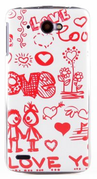 Чехол для Lenovo IdeaPhone S920 Hard Print Cover Love You