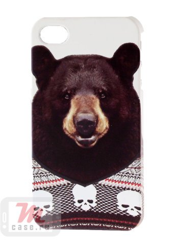 Чехол для iPhone 4/4S Мишка Чехол для iPhone 4/4S Russian Bear