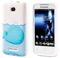 Чехол для Lenovo IdeaPhone A390T Silicon Print Cover Blue Whale